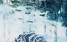 Hiljaisuus II, 2018, carborundum, kuivaneula, 32 x 49 cm