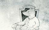 Susiakka tuolilla - Susiakan surukirja illustration, self-published, 2017